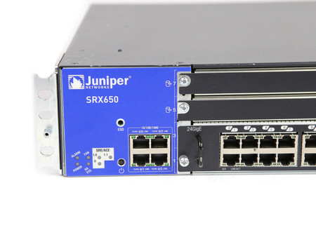 Firewall SRX650-BASE-SRE6-645AP SRX600-SRE6H REV. 23 SRX-GP-24GE 2X EDPS-645AB A R Juniper SRX650 4Ports 1000Mbits Module XPIM With 24Ports 1000Mbits And SRE 6 Module And 2x PSU 645W Managed Rails (2)